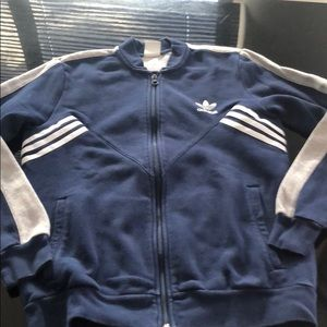Zip off sweater navy and gray from adidas size L